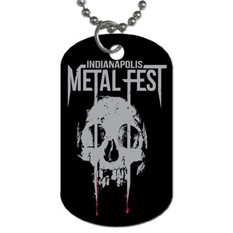 Indianapolis Metal Fest 2 Sided Dog Tag and Chain
