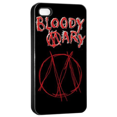 Bloody Mary iphone 4 Seamless Case Black