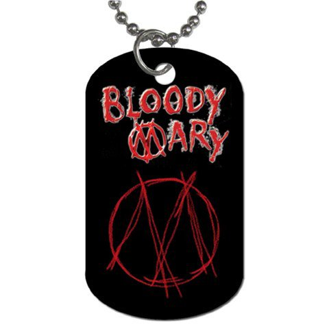 Bloody Mary 2 Sided Dog Tag and Chain