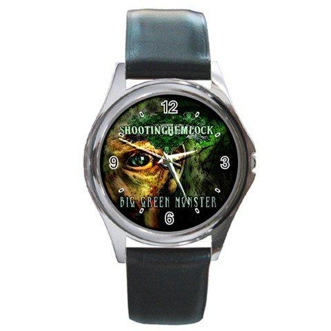 Shooting Hemlock Round Silver Metal Watch 1