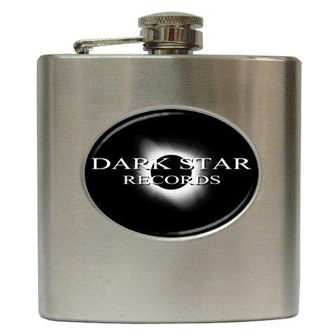Dark Star Records Hip Flask 6 oz