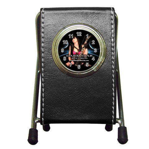 Dark Star Records Pen Holder Desk Clock