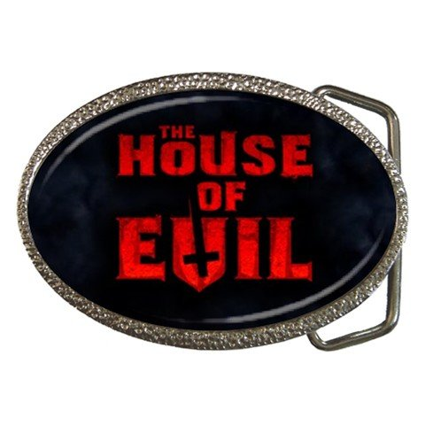 The House of Evil Belt Buckle