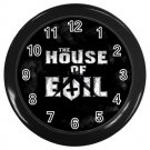 The House of Evil Wall Clock