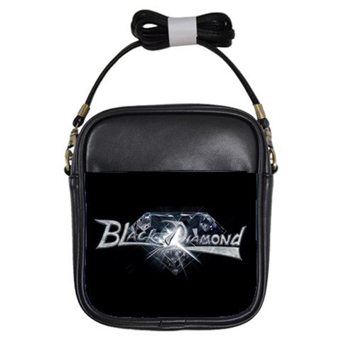 Black Diamond Leather Sling Bag