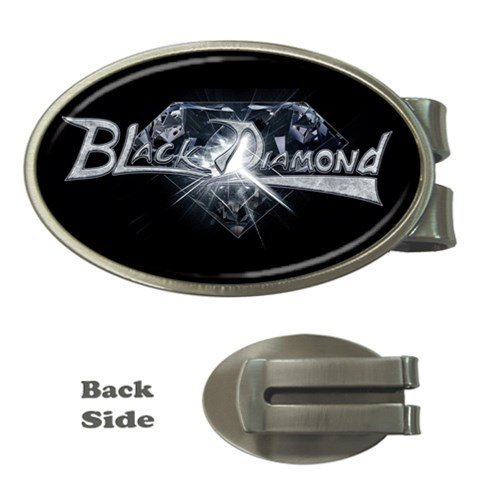 Black Diamond Oval Money Clip