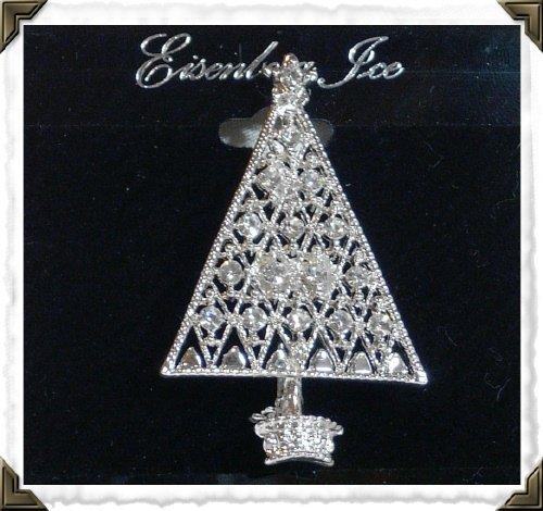 Eisenberg Ice Christmas Tree Sliver Lattice Pin