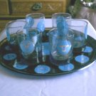 Zodiac / Horoscope Signs Glass Tray and High Ball Glasses