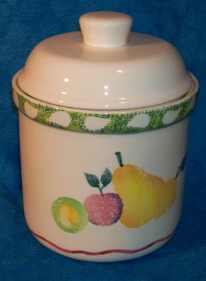 Fruit Stand Canister or Cookie Jar Treasure Craft
