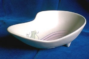 Cleminsons  California Pottery Abstract Modern Tri-Footed Bowl