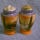 Made in Japan Lusterware Salt & Pepper Set - Lighthouse