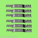 6 - 10073 Rotary lawnmower blades to replace John Deere M128485 Mulcher
