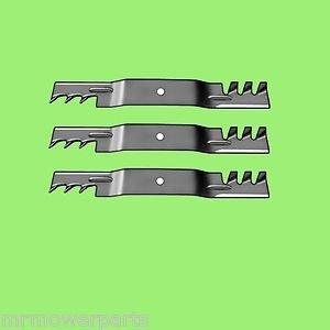 3 - 10073 Rotary lawnmower blades to replace John Deere M128485 Mulcher