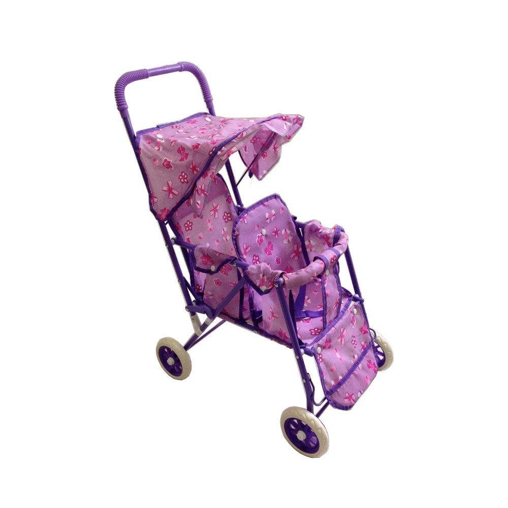 Double Doll Stroller Purple 930