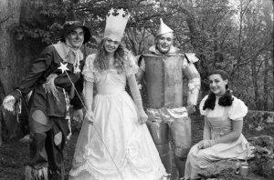 """Reunion"" Dorothy, Tin Man, Glinda & Scarecrow, Land of Oz, Beech Mountain, NC"