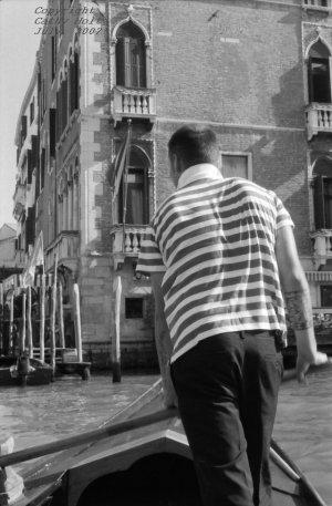 """Rowing Away...""  Venice, Italy"