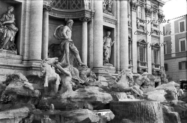 Trevi Fountain, too big for one picture, Rome, Italy
