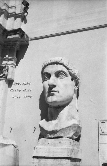 Constantine's head in the Campidoglio