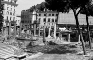 Ruins of Temple, Rome Italy