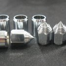 8xSet Dust Caps Valve Type Sharp+Valve Sleeve Chrome Cars