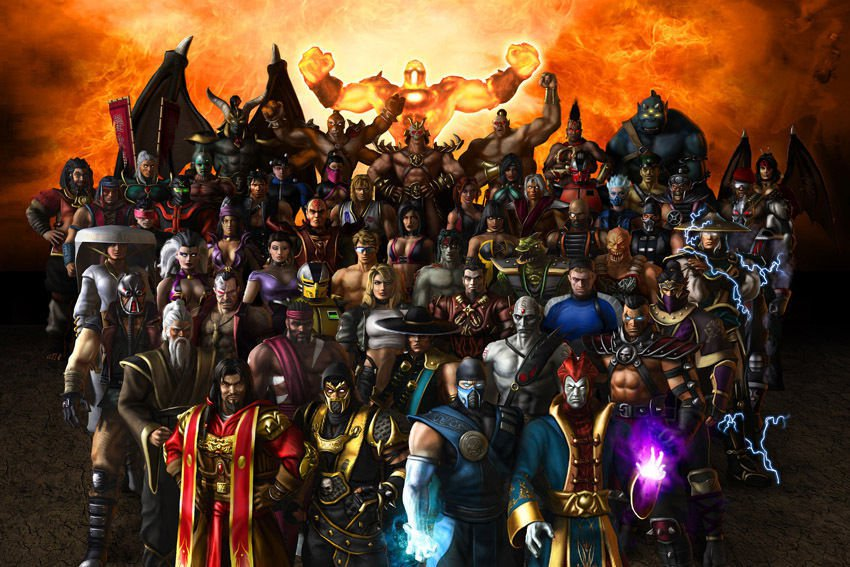 "Mortal Kombat 9 All Heroes Combat Poster 35"""