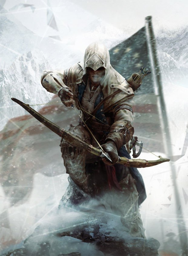 """Assassin's Creed 3 With Bow Poster 32"""""""