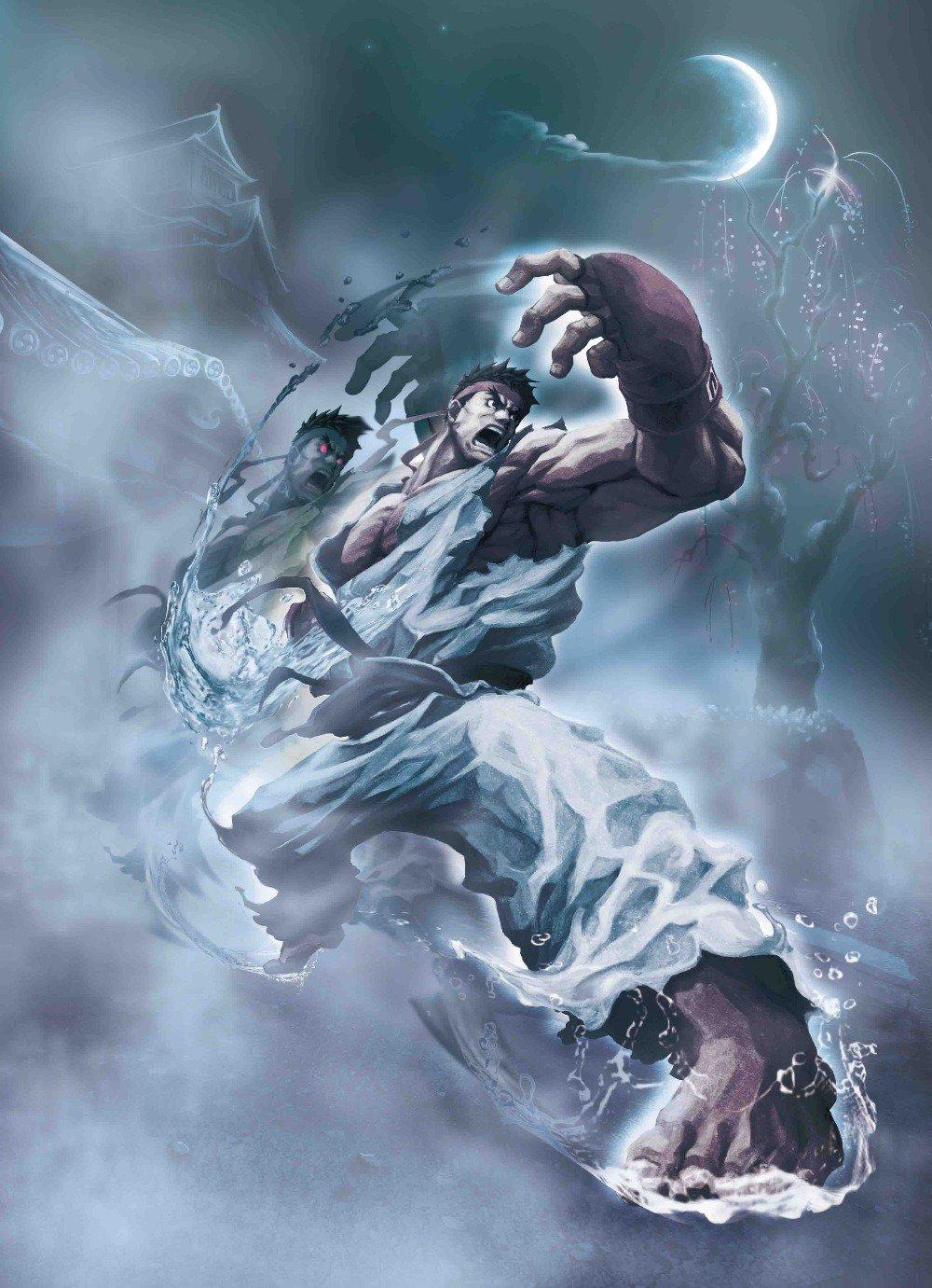 Street Fight Ryu Power Poster 32''