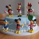 6 Pcs Mickey Minnie Mouse Clubhouse Donald Duck Cake Toppers Action Figure Toys