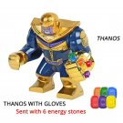 Avengers Infinity War Thanos w Infinity Gauntlet Lego Building Blocks Marvel Toy