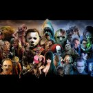 """Horror Artwork Movies All Roles 40"""" Poster"""