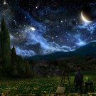 "STARRY NIGHT FANTASY STARS SKY SPACE MOON 35"" Poster"