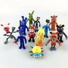 12Pcs Five Nights at Freddy's FNAF Action Figures Doll Games Toy Set XMAS Gift