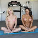 "Elsa Jean Two Girl Sexy Yoga 35"" Poster"