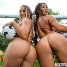 """Cali Carter, August Taylor - The Soccer Blow by Blow Threesome 35"""" Poster"""