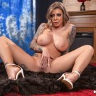 "Busty blond Karma Rx loves cock & sperm 35"" Poster"