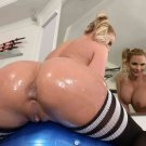 """Phoenix Marie Works that Ass with two cocks 35"""" Poster"""