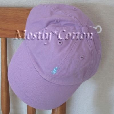 NwT Polo Ralph Lauren Infant GIRLS Baseball Hat PURPLE New with Tags