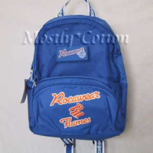 ROCAWEAR FLAMES Blue Nylon BACKPACK Basketball Theme School Pack NwT New with Tags