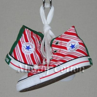 Converse CHUCK TAYLOR Toddlers 1-2y CANDY CANE High-Top Sneakers Shoes size 6 NEW