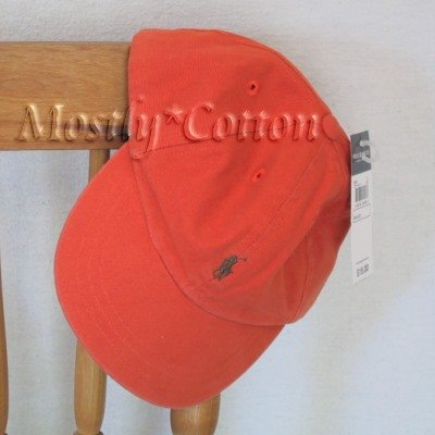 Polo Ralph Lauren TODDLER Boys Baseball Cap Hat ORANGE New