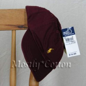 Polo Ralph Lauren TODDLER Boys Baseball Cap Hat BURGUNDY MAROON NwT New with Tags