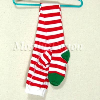 Hanna Andersson Girls VERY MERRY Red White CANDY CANE Striped TIGHTS 110-120 NwT New