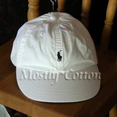 Polo Ralph Lauren BOYS Baseball Cap Hat WHITE 4 5 6 7 MEDIUM New