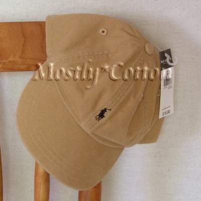 Polo Ralph Lauren BOYS Baseball Cap Hat TAN KHAKI 4 5 6 7 MEDIUM New