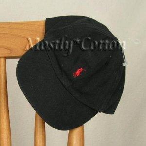 Polo Ralph Lauren BOYS Baseball Cap Hat BLACK RED 4 5 6 7 MEDIUM New