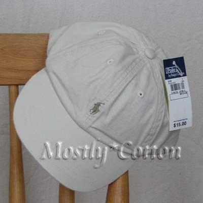 Polo Ralph Lauren BOYS Baseball Cap Hat STONE 4 5 6 7 MEDIUM NwT New with Tags