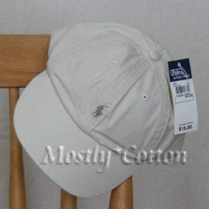 Polo Ralph Lauren BOYS Baseball Cap Hat STONE 4 5 6 7 MEDIUM NwT New with Tags
