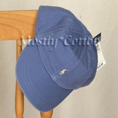 Polo Ralph Lauren BOYS Baseball Cap Hat SLATE BLUE 4 5 6 7 MEDIUM NwT New with Tags