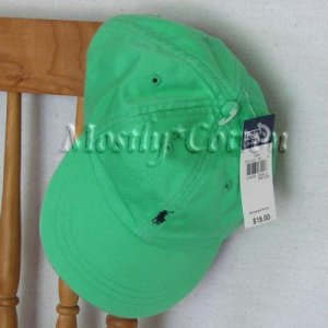 Polo Ralph Lauren BOYS Baseball Cap Hat LIGHT MINTY GREEN 4 5 6 7 MEDIUM NwT New with Tags