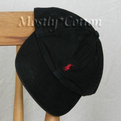 Polo Ralph Lauren BOYS Baseball Cap Hat BLACK 4 5 6 7 MEDIUM NwT New with Tags